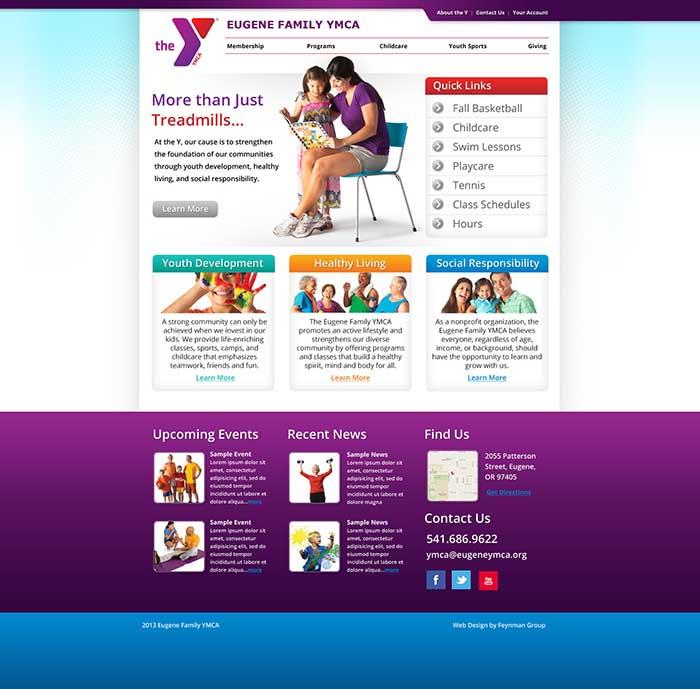 Eugene YMCA Homepage | Eugene Oregon Marketing