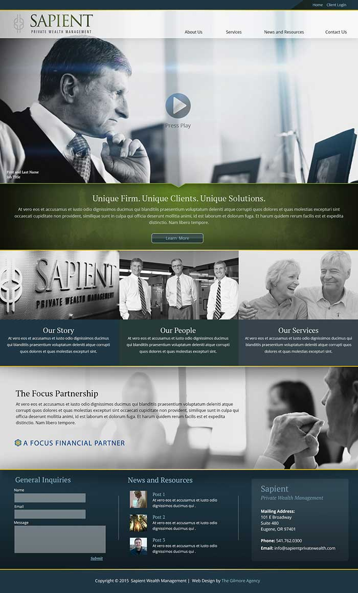 Sapient Wealth Management | Eugene Oregon Marketing
